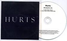 HURTS Wonderful Life UK 2-trk no'd test press CD Arthur Baker Remix