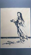 Dessin 1968 signé . Drawing 1968 signé LOISEL Régis, *1951 (France)?