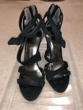 Marciano Sandals Black Bow Ankle Size 5.5