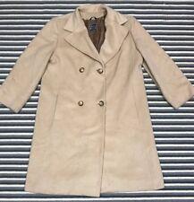 Cinzia Rocca Womens Coat Wool Cashmere Blend Tan Beige L
