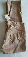J.CREW Men 770 Straight Fit 100% Cotton Pincord Denim Jeans - 33x30 Light Brown