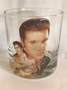 ELVIS PRESLEY tumbler glass WHISKEY/FRUIT JUICE whisky GLASS COL