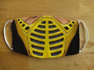 Face Mask Funny Mortal Kombat Scorpion Gamer Reusable Protection Face Cover UK