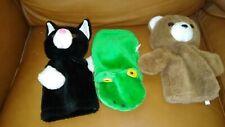 """Hand Puppet : Bear, Frog, Cat  Blue 10"""""""