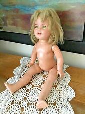 "1930 Arranbee Composition NANCY LEE Doll Sleepy Eyes Teeth 19"" TLC Project"