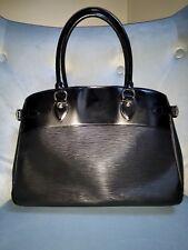 Authentic Louis Vuitton Noir Epi Leather Passy GM Bag Purse Tote (Pre Owned)