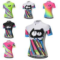 Ladies Cycling Jersey Shirt Short Sleeve Women's Bike Clothes Cycle Jersey Tops