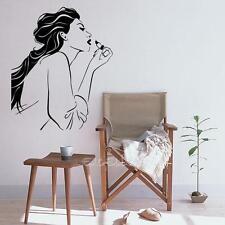 PVC Girl Wearing Lipstick Wall Stickers Bedroom Livingroon Vinyl Art Wall Decor