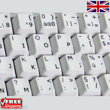 English UK Transparent Keyboard Stickers With Black Letters for Laptop Computer