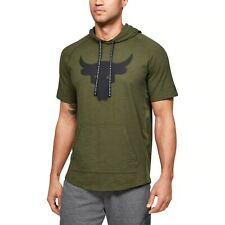 Under Armour Men's Project Rock Charged Cotton Short Sleeve Hoodie 1351525-315