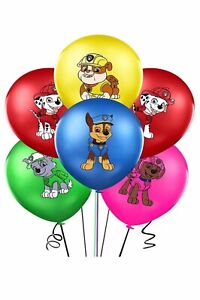 Paw Patrol 12pcs Latex Balloons  Party Supplies, Decorations.