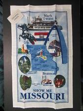 "1 NWT MISSOURI Souvenir Linen Towel, 16.5"" x 26"", Branson, Mark Twain ..."