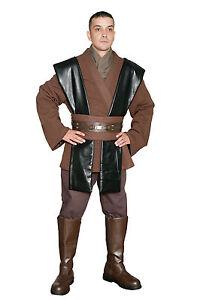 STAR WARS ANAKIN SKYWALKER Disfraz Marrón Jedi & Y Pantalones Desde Reino Unido