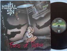 MORTAL SIN Face Of Despair RARE Oz Thrash Metal 2nd LP 1989 VERTIGO Spaceship