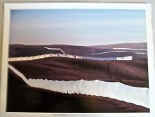 Christo & Jean Claude Poster of Running Fence, Sonoma And Marin Counties 14x11