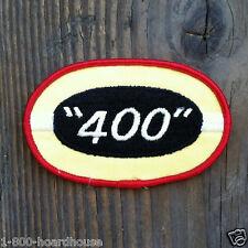 Vintage Original NASCAR 400 Car Advertising Automobile Fabric Patch 1960s NOS