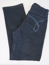 NYDJ Not Your Daughters Jeans Straight Leg Dark Bling Pockets Women's 4 P Petite