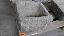Alter Trog aus Granit 30 cm lang  Steintrog Granittrog G1206 Brunnen Waschbecken