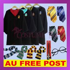 Harry Potter Gryffindor Slytherin Ravenclaw Hufflepuff Robe Cloak Scarf Tie Wand