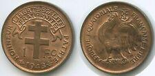 G1215 - French Equatorial Africa 1 Franc 1943 SA KM#2a XF-UNC Äquatorialafrika