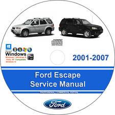 Ford Escape 2001 2002 2003 2004 2005 2006 2007 Factory Service Repair Manual