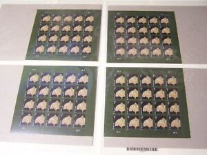 Tiffany Lamp Pane of 1 Cent Stamps 20 New Stamps On Sheet... MNH 4 Sheets of 20