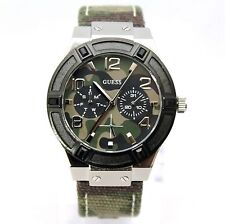 New Guess U0458L1 Camouflage Dial and Iconic Canvas Green Band Women Watch