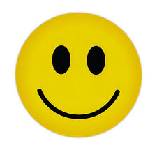 Magnetic Bumper Sticker - Happy Face (Smile Face) - Round Magnet