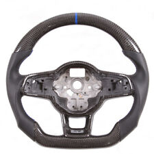 Real Carbon Fiber Flat Customized Steering Wheel for VW Golf MK7  GTI R Scirocco
