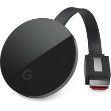 Google Chromecast Ultra 4K Media Streaming Device HDMI Connector Dual-Band Wi-Fi