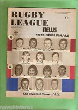 #MM. 1973  RUGBY LEAGUE NEWS  SEMI FINALS, LEGENDS  COVER
