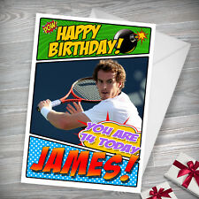 ANDY MURRAY - Personalised Birthday Card - Son, Brother, Daughter, Nephew, Niece