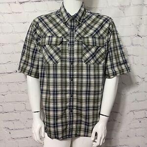 Blackhawk Tactical Men's Shirt XL Black Plaid Short Sleeve Snap Button Pockets