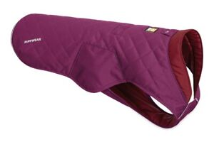 """Ruffwear Stumptown Quilted Insulated Jacket Size Small 22-26"""" Larkspur Purple"""
