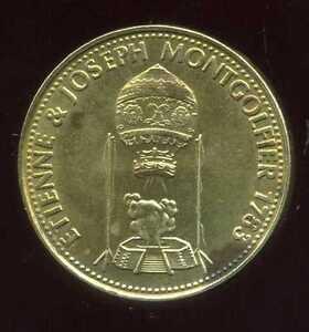 jeton SHELL   etienne & joseph MONTGOLFIER  1783  ter
