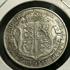 1927 GREAT BRITAIN SILVER HALF CROWN NICE COIN