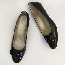 Talbots Size 8 N Dark Brown Patent Leather Kitten Heels Pumps Made in Spain