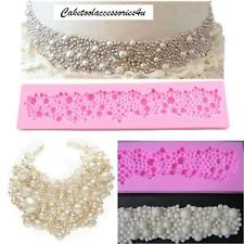 Pearl Beads Necklace Very Flexible Silicone Mould Sugarcraft Cake Decorating