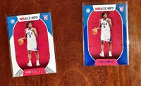 Tyrese Maxey 2020-21 Panini NBA Hoops BLUE AND BASE Cards