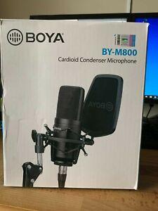 Boya BY-M800Large Diaphragm Cardioid Condenser Microphone Studio Sound Recordin