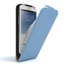Tasche für Samsung Galaxy Note 2 Flip Case Schutz Hülle Cover Hellblau