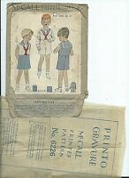 RARE sewing pattern 30's Boys SAILOR SUIT vintage McCall 6226 sew DARLING size 6