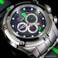 Invicta Reserve Bolt Zeus S1 Racer Gray Leather 52mm Swiss Mvt Chrono Watch New
