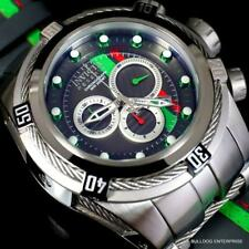 Invicta Reserve Bolt Zeus S1 Corredor Gris Cuero 52mm Suizo Mvt Reloj Crono New