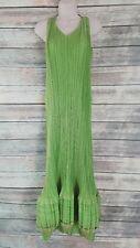 Vtg Issey Miyake Fete Size 2 Womens Green Pleated Saucer Dress Trumpet Skirt