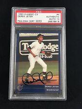 1993 CLASSIC C3 #4 DEREK JETER ROOKIE CARD RC SIGNED VINTAGE SIG MINT 10 PSA/DNA