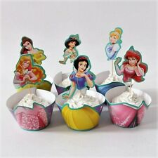Disney Princess Cupcake Decorating Set of 12 Double-Sided Toppers And 12 Wrapper