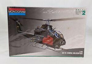NEW Monogram AH-1S Cobra Helicopter Kit #5444 1/48 Skill 2 - 78 pc *Torn Plastic