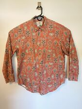 The Territory Ahead Button Down Paisly Salmon Color Shirt XL