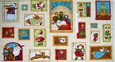 "24"" Christmas Fabric Panel - Benartex Nancy Halvorsen Holiday Favorites Beige"